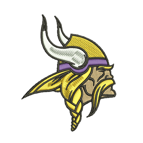 Minnesota Vikings embroidery design, machine embroidery, embroidery designs, embroidery design, embroidery machine, embroidery file, embroidery, logo, Patterns, Applique design, Applique designs, Appliques, NFL embroidery, american football, Football Embroidery, football team logo, Football design,