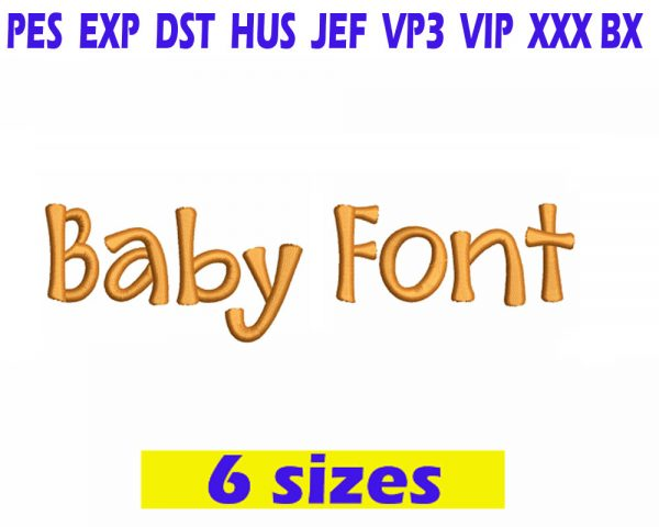 Baby Font embroidery design INSTANT download Baby Font embroidery design