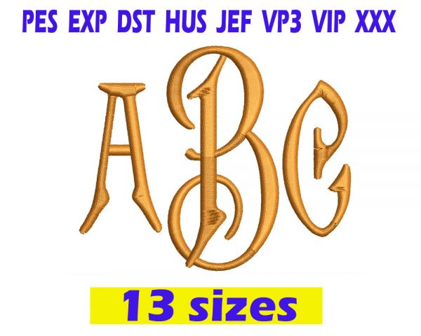 Carson Monogram Font Embroidery INSTANT download Carson Monogram Font Embroidery