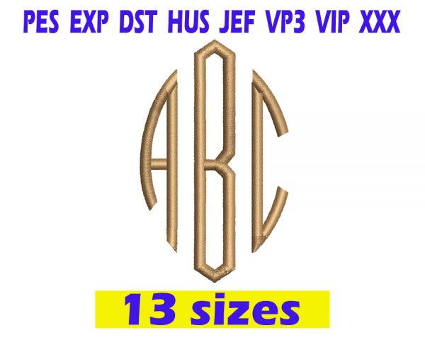 Classic Oval Monogram Embroidery Fonts INSTANT download Classic Oval Monogram Embroidery Fonts