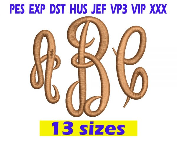 Empress Monogram embroidery Font INSTANT download Empress Monogram embroidery Font