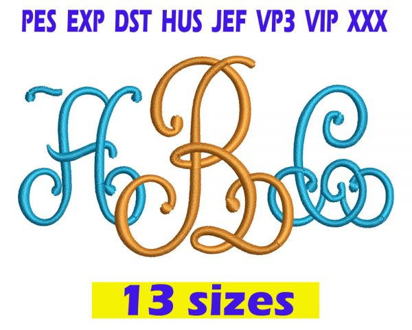 Lace Monogram Embroidery INSTANT download Lace Monogram Embroidery