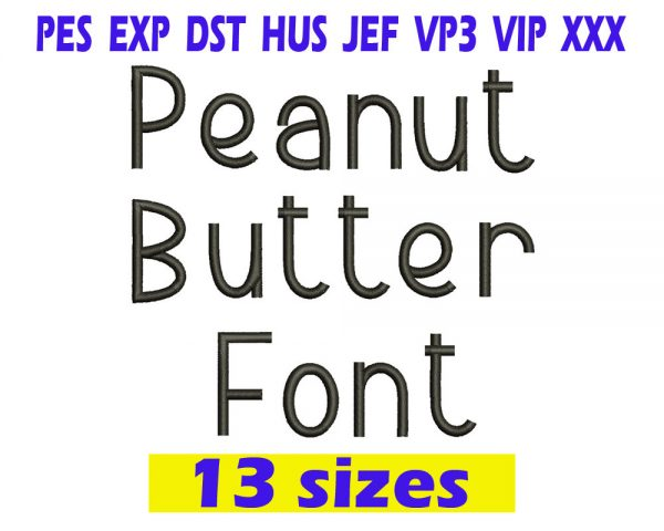 Peanut Butter Cookies Embroidery font INSTANT download. Peanut Butter Cookies Embroidery font
