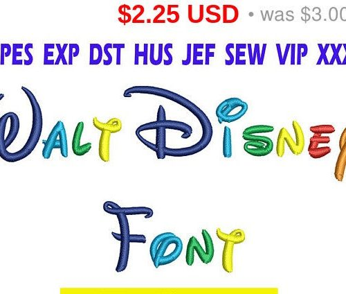 Walt Disney font Embroidery INSTANT download Walt Disney font Embroidery