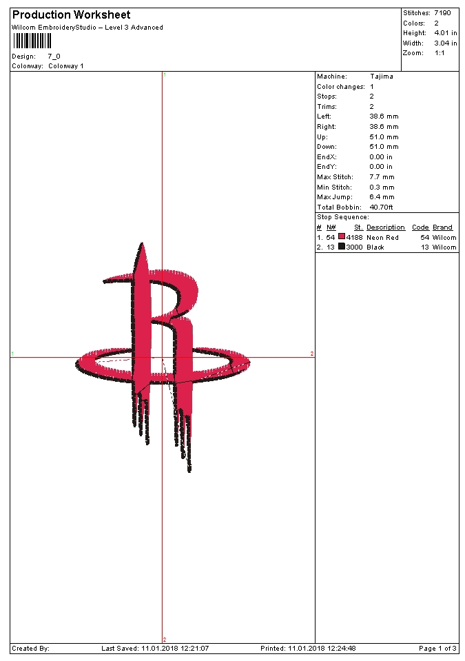 Houston Rockets Embroidery Design