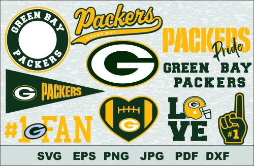 Green Bay Packers Silhouette Studio Transfer Iron on Cut File Cameo Cricut Iron on decal Vinyl decal Layered Vector