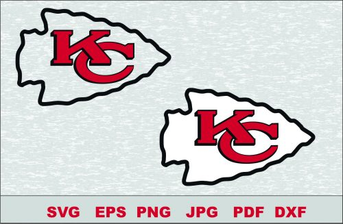 Kansas City Chiefs SVG DXF Logo Silhouette Studio Transfer Iron on Cut File Cameo Cricut Iron on decal Vinyl decal Layered Vector