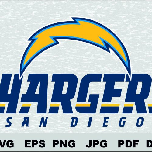 San Diego Chargers SVG DXF logo Silhouette Studio Transfer Iron on Cut File Cameo Cricut Iron on decal Vinyl decal Layered Vector