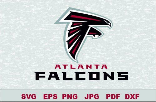 Atlanta Falcons Logo Studio Transfer Iron on Cut File Cameo Cricut Iron on decal Vinyl decal Layered Vector