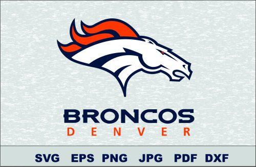 Denver Broncos SVG DXF Logo Silhouette Studio Transfer Iron on Cut File Cameo Cricut Iron on decal Vinyl decal Layered Vector