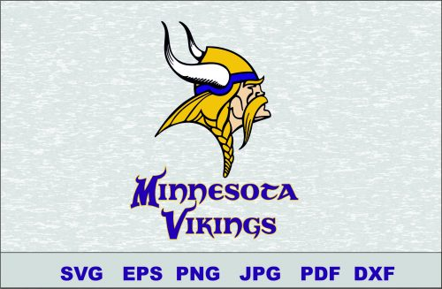 Minnesota Vikings SVG DXF Logo Silhouette Studio Transfer Iron on Cut File Cameo Cricut Iron on decal Vinyl decal Layered Vector