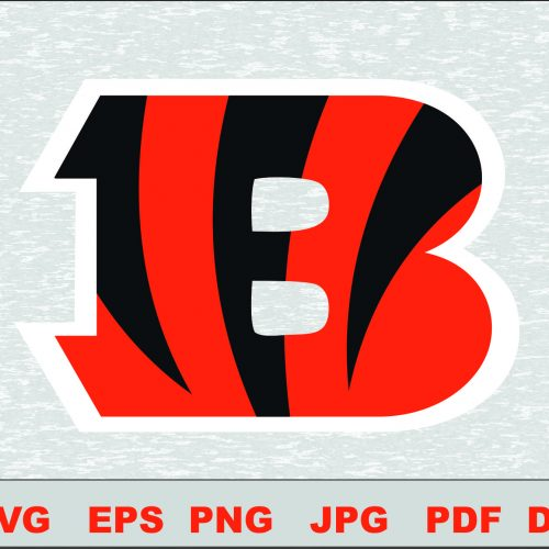 Cincinnati Bengals Layered SVG Logo Silhouette Studio Transfer Iron on Cut File Cameo Cricut Iron on decal Vinyl decal Layered Vector