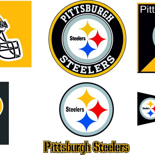 Pittsburgh Steelers SVG DXF Eps Logo Silhouette Studio Transfer Iron On Cut File Cameo Cricut Decal Vinyl Layered Vector