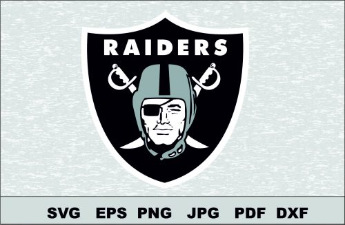 Oakland Raiders SVG Logo Silhouette Studio Transfer Iron on Cut File Cameo Cricut Iron on decal Vinyl decal Layered Vector