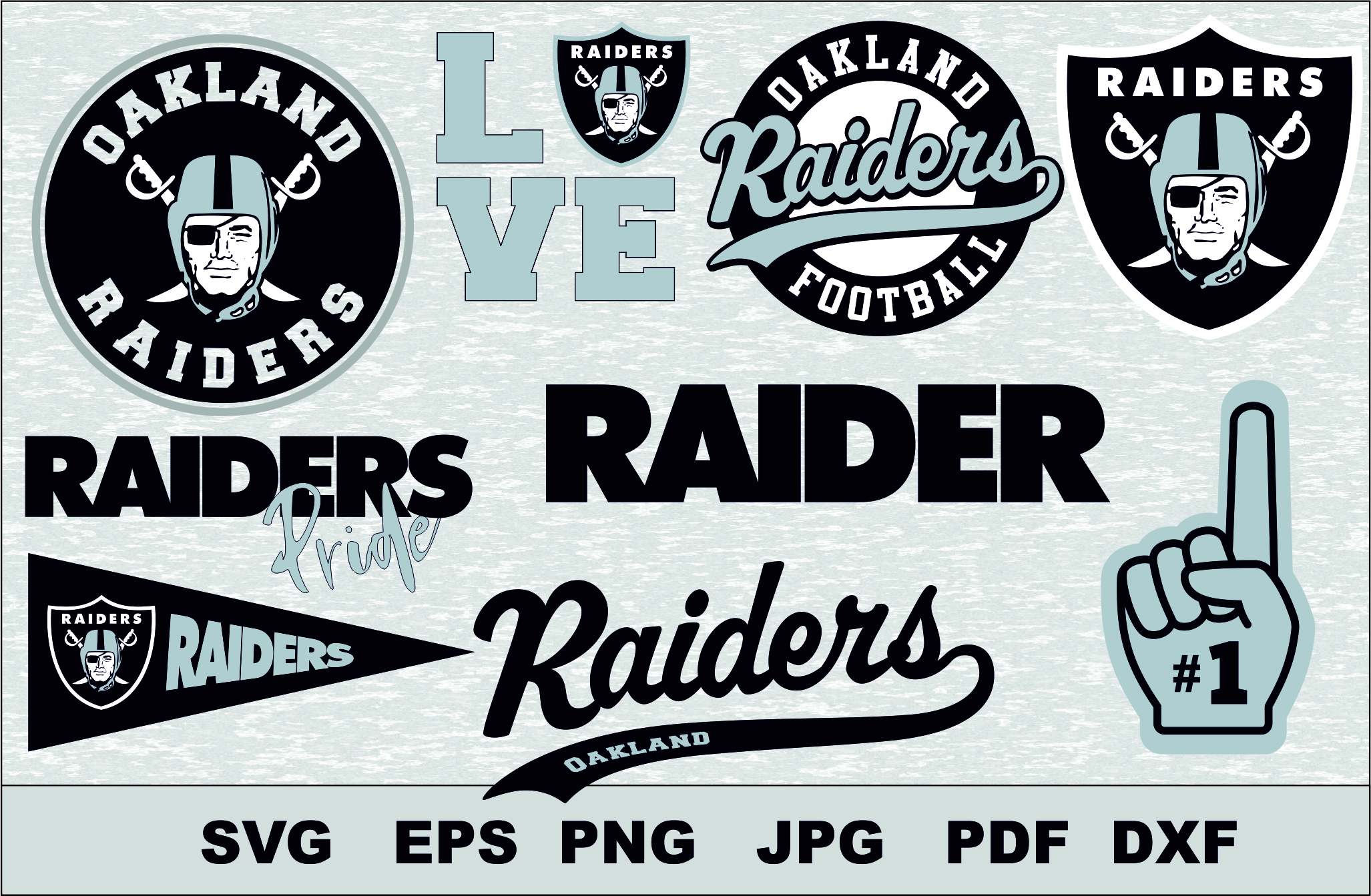 Oakland Raiders Svg Logo Silhouette Studio Transfer Iron On Cut File Cameo Cricut Iron On Decal Vinyl Decal Layered Vector