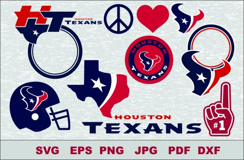 Houston Texans SVG DXF Logo Silhouette Studio Transfer Iron on Cut File Cameo Cricut