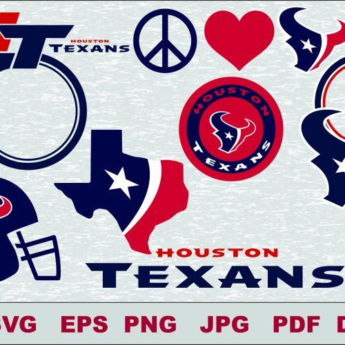 Houston Texans SVG DXF Logo Silhouette Studio Transfer Iron on Cut File Cameo Cricut