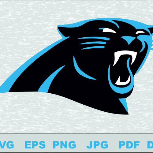 Carolina Panthers SVG Logo Silhouette Studio Transfer Iron on Cut File Cameo Cricut Iron on decal Vinyl decal Layered