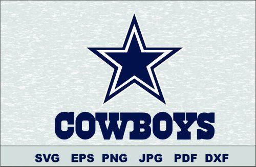 Dallas Cowboys SVG DXF Logo Silhouette Studio Cameo Cricut Design Template Stencil Vinyl Decal Tshirt Transfer Iron on Layered Vector