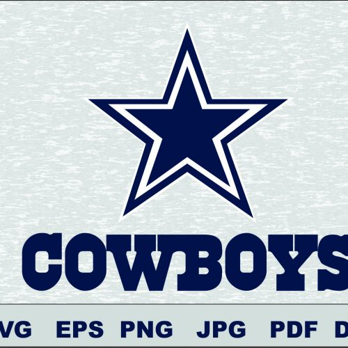 Dallas Cowboys SVG DXF Logo Silhouette Studio Cameo Cricut Design Template Stencil Vinyl Decal Tshirt Transfer Iron on Layered Vector