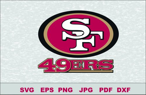 San Francisco 49ers Silhouette Studio Transfer Iron on Cut File Cameo Cricut Iron on decal Vinyl decal Layered Vector