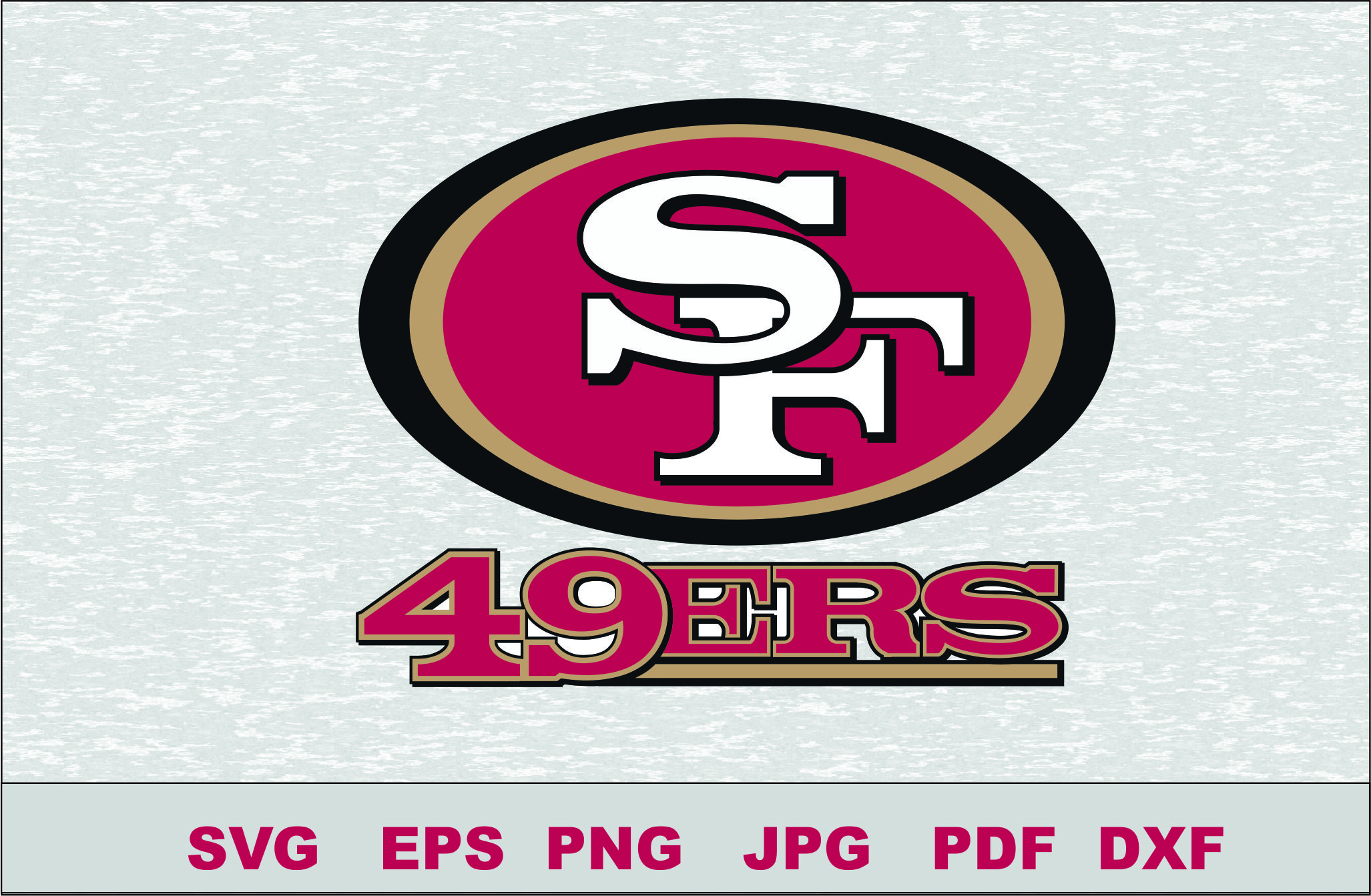 san francisco 49ers silhouette studio transfer iron on cut file rh multzone com old 49ers logo vector 49ers Logo Custom Vector