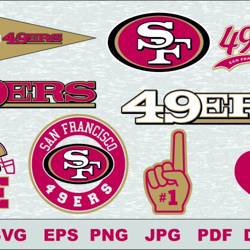 49ers svg, 49ers cut files, 49ers vector, 49ers T-shirt design, 49ers circut, 49ers silhouette cameo, 49ers Layered, 49ers Transfer Iron, 49ers Cameo Cricut,