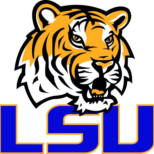LSU Tigers University Louisiana Layered Logo Scalable Silhouette Studio Transfer Iron on Cut File Cameo Cricut Layered Vector