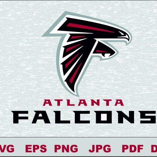 Atlanta Falcons Logo Studio Transfer Iron on Cut File Cameo Cricut Iron on decal Vinyl decal Layered Vector