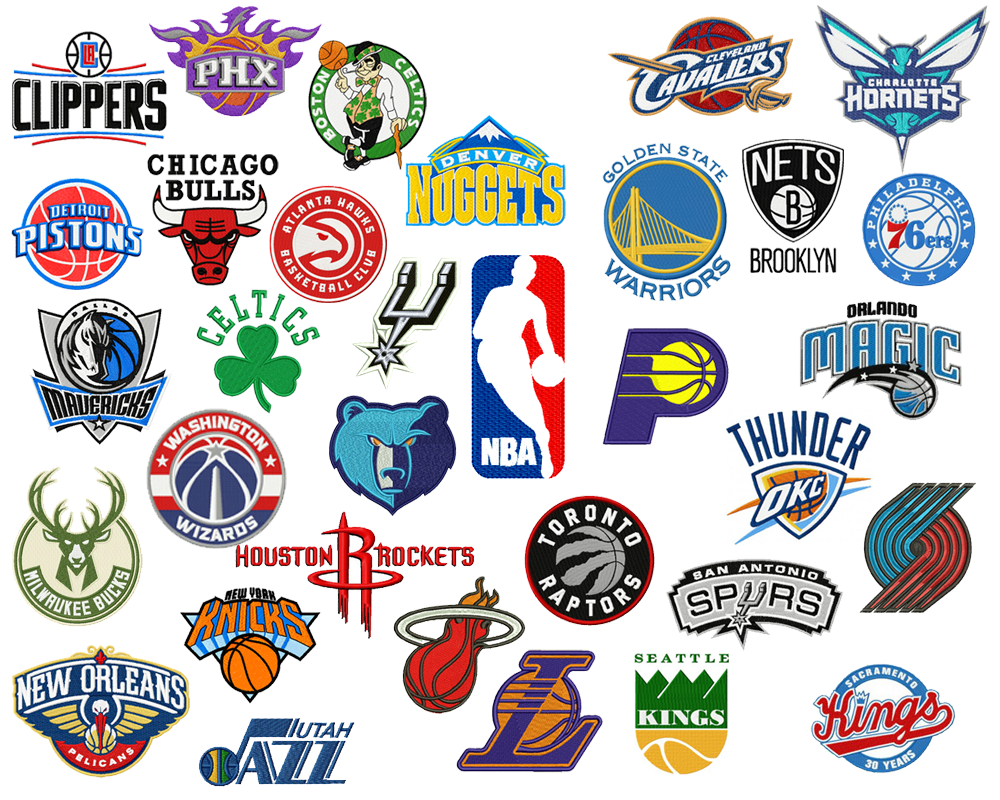 Nba Pack Embroidery Logo Design Embroidery Designs Instant Download