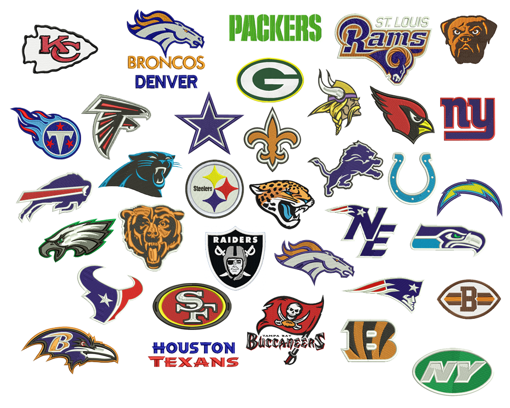 Download NFL Pack logo embroidery designs embroidery designs ...